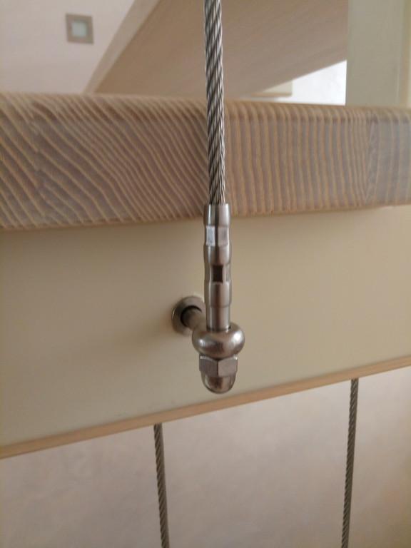 вертикальное тросовое ограждение винтовой лестницы. Запорожье, 2019 год. 16