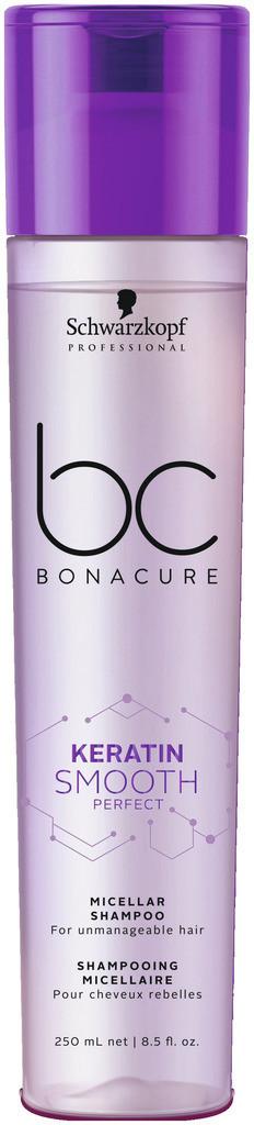 Мицеллярный шампунь для гладкости волос SCHWARZKOPF BC Keratin Smooth Perfect Micellar Shampoo 250 мл