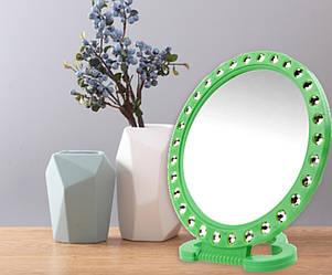 Зеркало косметическое в пластиковой оправе диаметр 16см