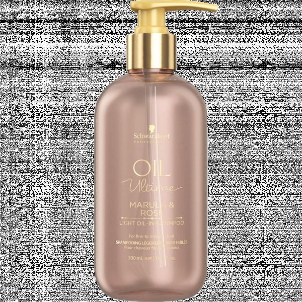 Шампунь для тонких волос с маслом марулы и розы SCHWARZKOPF Oil Ultime Marula&Rose Light Oil-in-Shampoo 300 мл