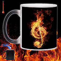 Кружка хамелеон Музика вогню 330мл, фото 1
