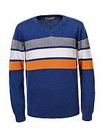 Детские свитера оптом в полоску Glo-story,100% хлопок,разм 110-160 см, фото 1