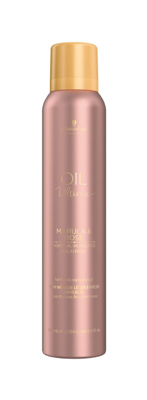 Маска для тонких и нормальных волос SCHWARZKOPF Oil Ultime Marula&Rose Light Oil-in Mousse Treatment 500 мл