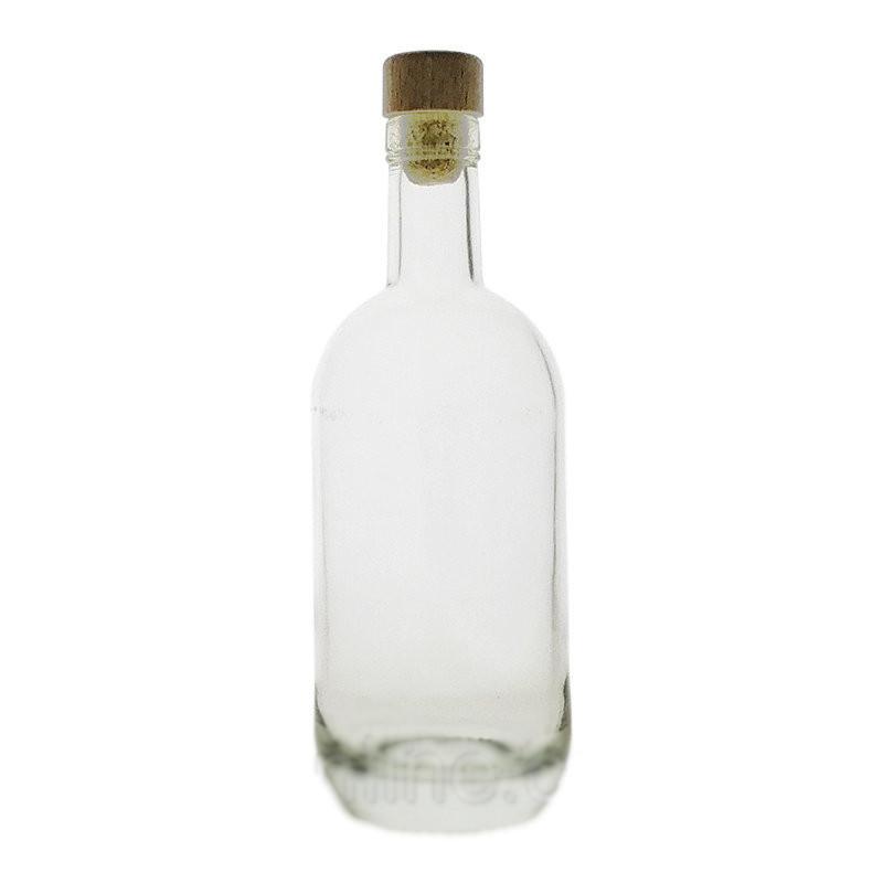 """Графин 500 мл стеклянный с деревянной пробкой для водки """"Moonea"""" Everglass"""