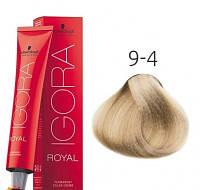 Краска для волос Schwarzkopf Professional Igora Royal 60 мл 9-4 Блондин бежевый