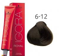 Краска для волос Schwarzkopf Professional Igora Royal 60 мл 6-12 Темный русый сандрэ пепельный