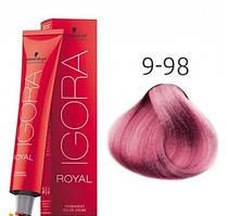 Краска для волос Schwarzkopf Professional Igora Royal 60 мл 9-98 Блондин фиолетовый красный
