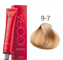 Краска для волос Schwarzkopf Professional Igora Royal 60 мл 9-7 Блондин медный