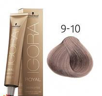 Стойкая краска для седых волос SCHWARZKOPF Igora Royal Absolutes 60 мл 9-10 Экстра светлый блондин сандре натуральный