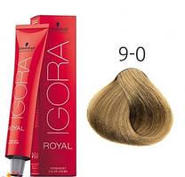 Краска для волос Schwarzkopf Professional Igora Royal 60 мл 9-0 Блондин натуральный