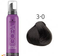 Тонирующий мусс для волос Schwarzkopf Professional Igora Expert Mousse 100 мл 3-0 Темный коричневый натуральный