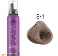 Тонирующий мусс для волос Schwarzkopf Professional Igora Expert Mousse 100 мл 8-1 Светлый русый сандрэ
