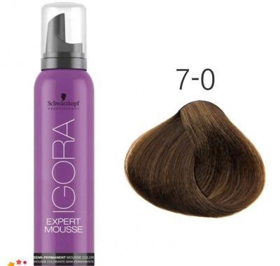 Тонирующий мусс для волос Schwarzkopf Professional Igora Expert Mousse 100 мл 7-0 Средний русый натуральный