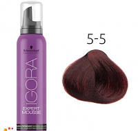 Тонирующий мусс для волос Schwarzkopf Professional Igora Expert Mousse 100 мл 5-5 Светлый коричневый золотистый