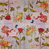 Салфетка цветы с письмом