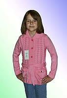 Кофточка вязанная для девочки м 9613, р 122-140, разные цвета