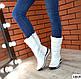 Женские белые сапожки дутики натуральная кожа Зима, фото 5