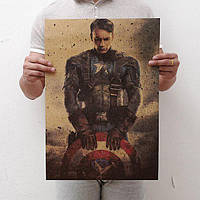 Качественный плакат с Капитаном Америка!