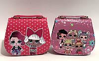 Детские лаковые сумочки Лол 17*15*7 см (красный и сиреневый)