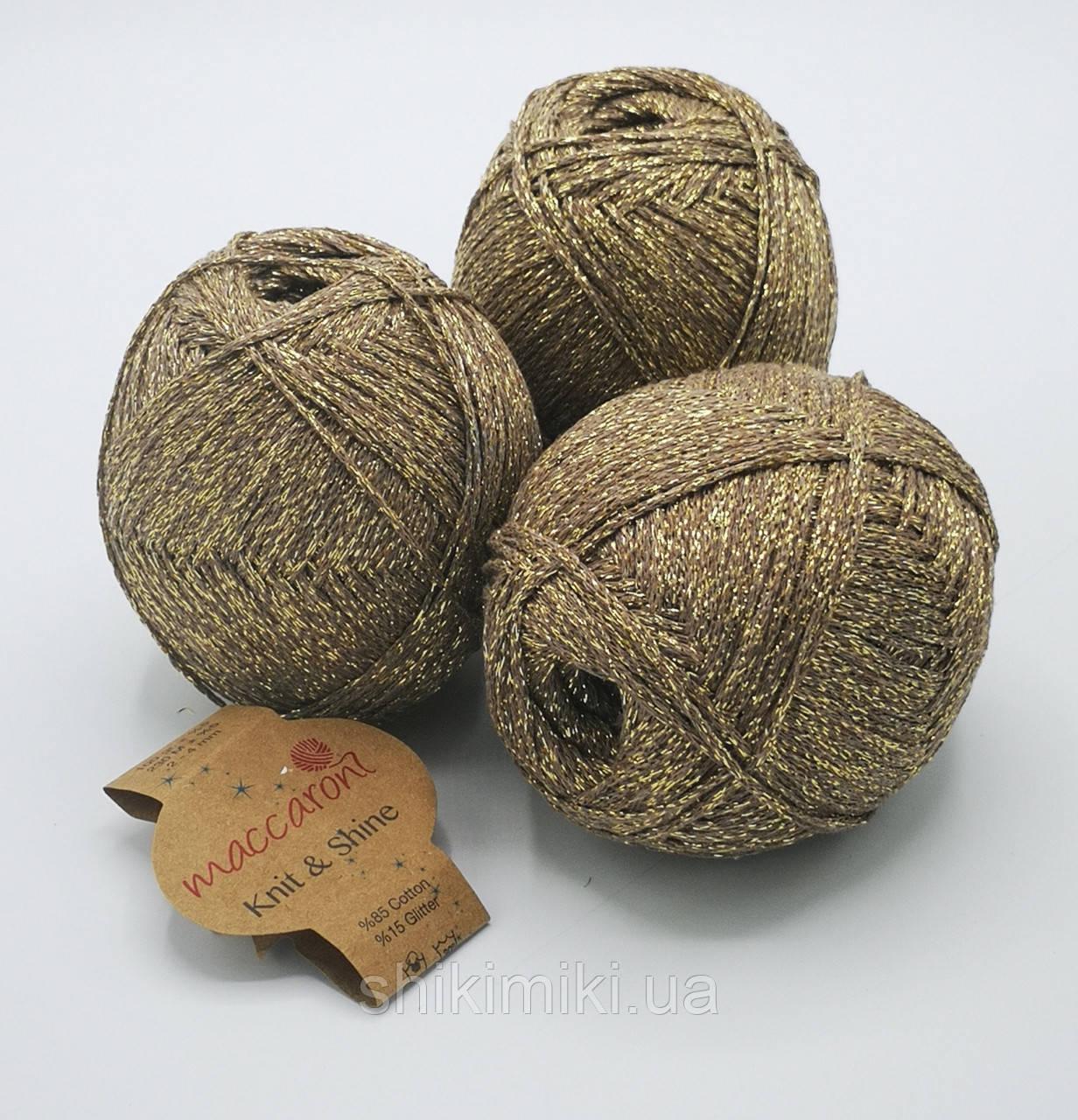 Трикотажный шнур с люрексом Knit & Shine, цвет Тауп