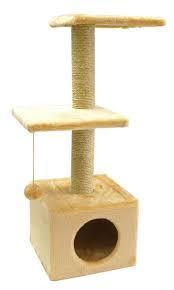 Когтеточка домик для кошек Бонифаций сезалевый