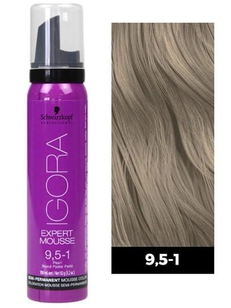 Тонирующий мусс для волос Schwarzkopf Professional Igora Expert Mousse 100 мл 9.5-1 Светлый блондин пастельный сандрэ