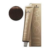 Стойкая краска для седых волос SCHWARZKOPF Igora Royal Absolutes 60 мл 4-60 Средний коричневый шоколадный натур-й