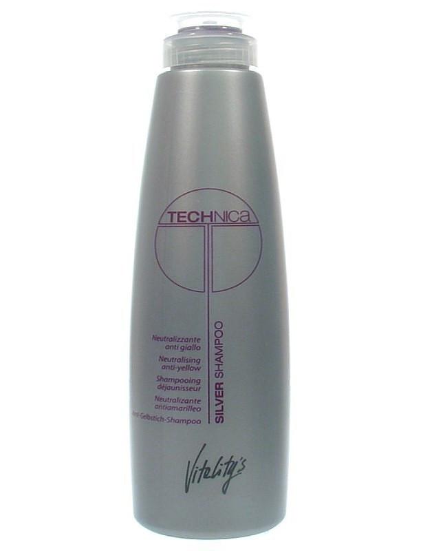 Шампунь нейтрализующий желтизну волос VITALITY'S Technica Silver Shampoo 250 мл