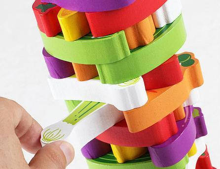 Деревянная игрушка Башня овощи, фото 2