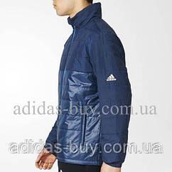Куртка мужская оригинальная осенняя adidas BC PAD JKT AZ0856 цвет: темно-синий