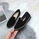 Женские черные туфли-лоферы, фото 2