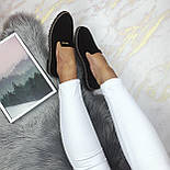 Женские черные туфли-лоферы, фото 5