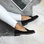 Женские черные туфли-лоферы, фото 4