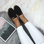 Женские черные туфли-лоферы, фото 3