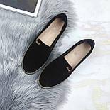 Женские черные туфли-лоферы, фото 6
