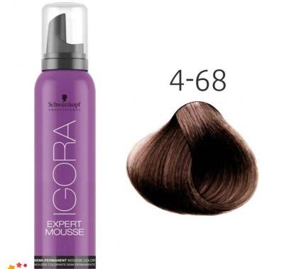 Тонирующий мусс для волос Schwarzkopf Professional Igora Expert Mousse 100 мл 4-68 Средний коричневый шоколадный красный