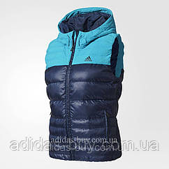 Жилет женский оригинальный adidas COSY DOWN VEST BP9392 цвет: синий/голубой