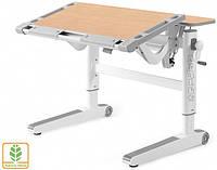Детский стол Mealux Ergowood M цвет столешницы клен/цвет пластика серый