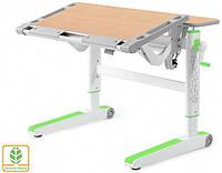 Детский стол Mealux Ergowood L цвет столешницы клен/цвет пластика зеленый