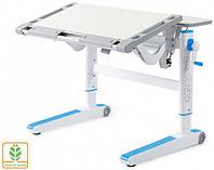 Детский стол Mealux Ergowood L цвет столешницы береза/цвет пластика голубой