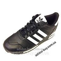 Оригинал Мужские кожаные кроссовки adidas originals ZX700 G63499 цвет:черный повседневные