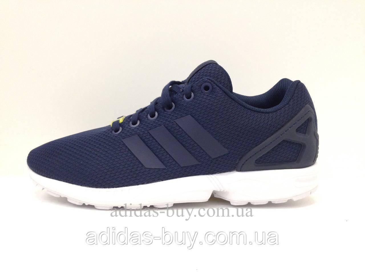 Оригинальные Мужские кроссовки adidas originals ZX Flux M19841 цвет:синий из сетки