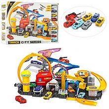 Детский игровой гараж трек P884-A