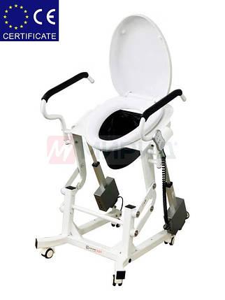 Кресло для туалета c подъемным устройством и подставным судномLWY-002., фото 2