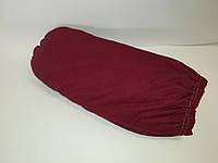Простынь на резинке 160*200 Хлопок 100%, трикотажная, Турция Вишня