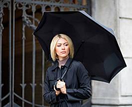 Ветрозащитный зонт обратного сложения Up-Brella черный (1024252153), фото 2