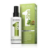 Спрей маска для ухода за волосами с ароматом зеленого чая Revlon Uniq One Green Tea Scent Treatment 150 мл