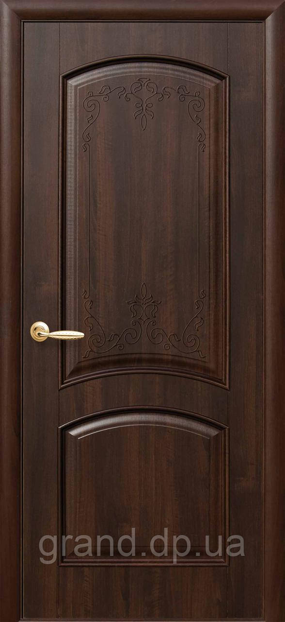 Двери межкомнатные Новый стиль Антре ПВХ Deluxe глухая, цвет каштан