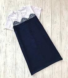 Платье для девочки делового стиля с коротким рукавом