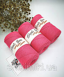 Эко шнур Cotton Macrame Large 3 mm,цвет Малиновый